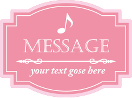 Cute message label