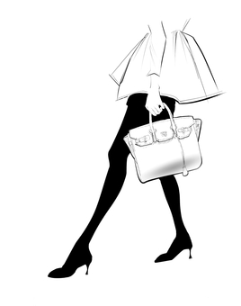 Fashionable female leg beauty