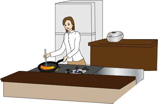 烹飪的女人