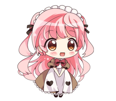 Pink hair maid (heart)