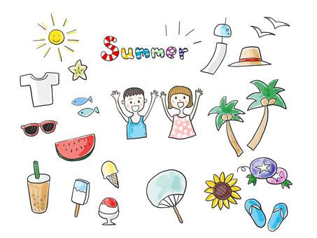 Summer (color version watercolor)