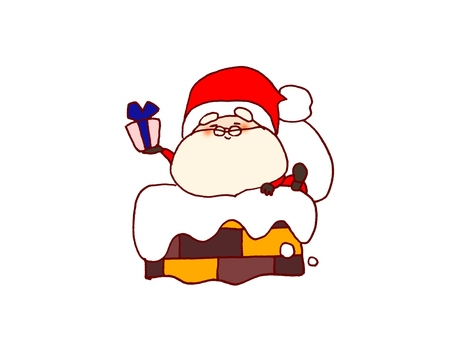 Santa to enter the chimney