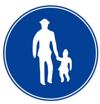 Pedestrian only sign