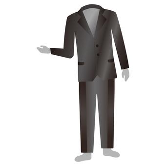 Transparent human in suit