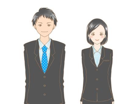 Men and women in suits 1