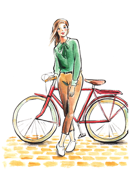 Woman riding a bicycle 1