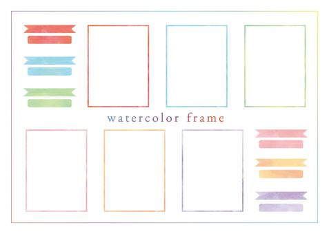 Watercolor frame-02