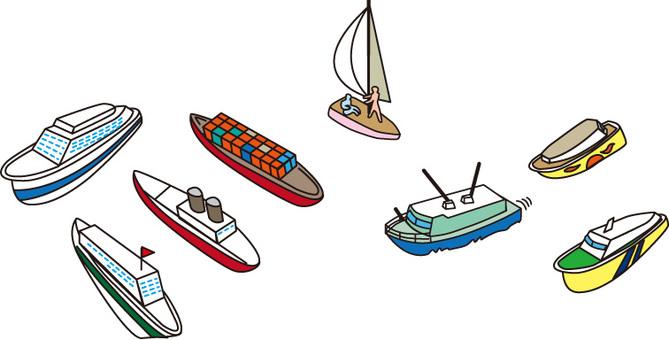 Various boats