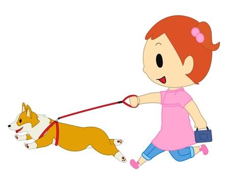 Girl to take a walk pink