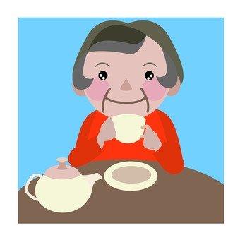 Granny who drinks tea · Coffee shop