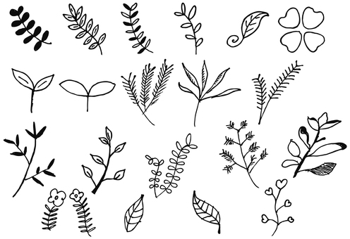 Handwritten plants