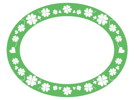 Four Leaf Clover Oval 1-3