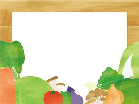 Vegetable and mushroom frame
