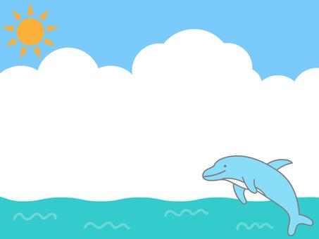 イルカ フレーム
