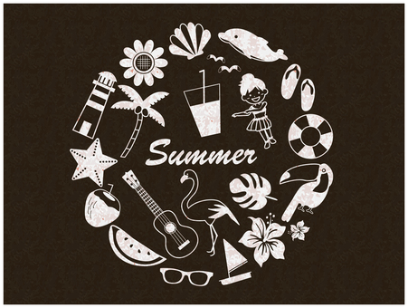 Summer image illustration