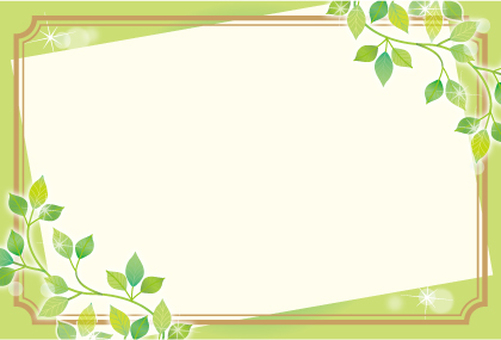 Frame card of leaves