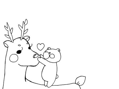 Reindeer and Bear 1 of 1