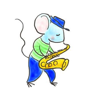 색소폰 쥐 3