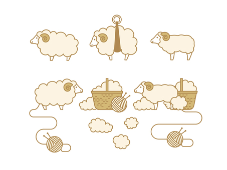 Sheep material collection