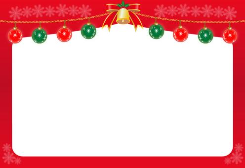Christmas ornament · frame (red)