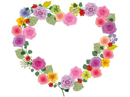 Heart frame _ rose