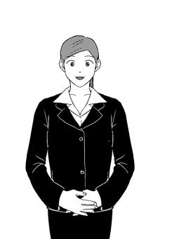 Business style female (suit) monochrome