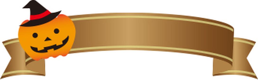 Halloween frame ribbon