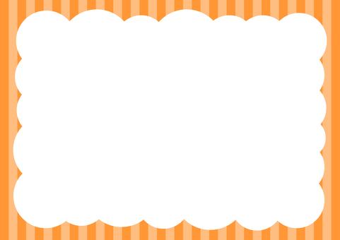 Shimashima Pop Bubble background Orange