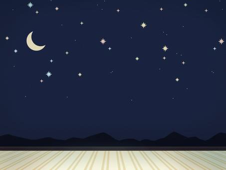 夜空壁紙的房間1