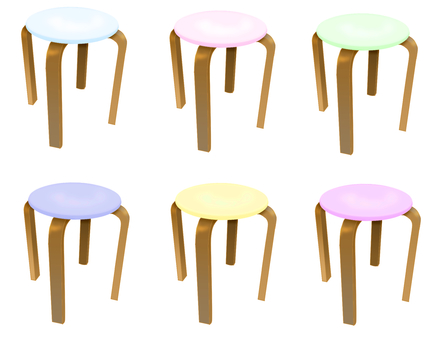 Pastel colored chairs