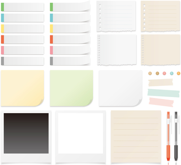 Sticky notes and memo paper sets