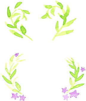 Watercolor painting flower frame