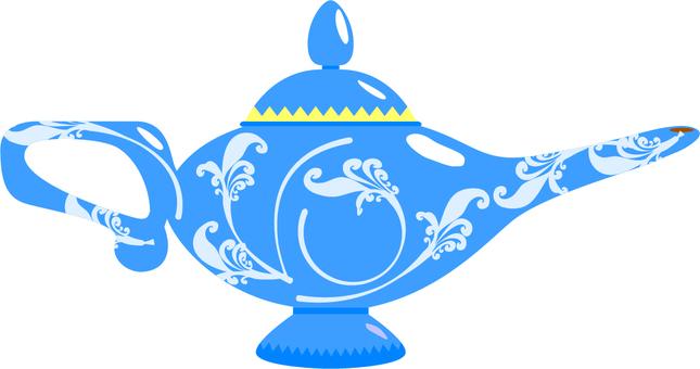 Magical lamp blue