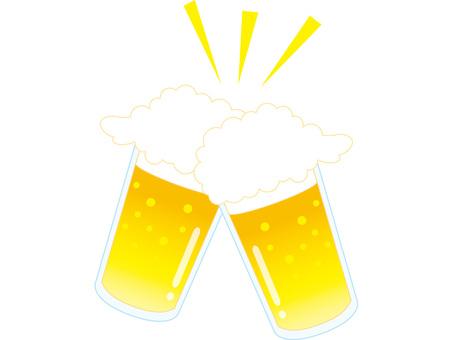 Beer toast glass