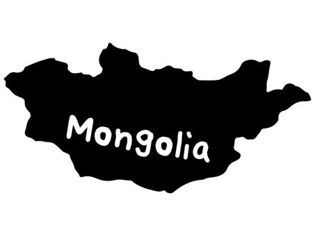 Mongolia silhouette