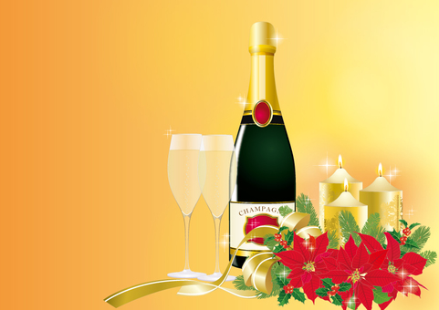 Christmas arrangement _ champagne