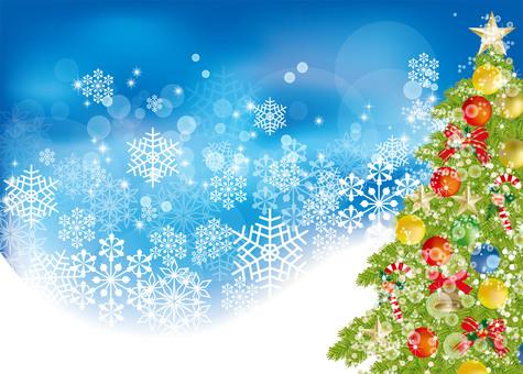 크리스마스 트리 및 눈 8