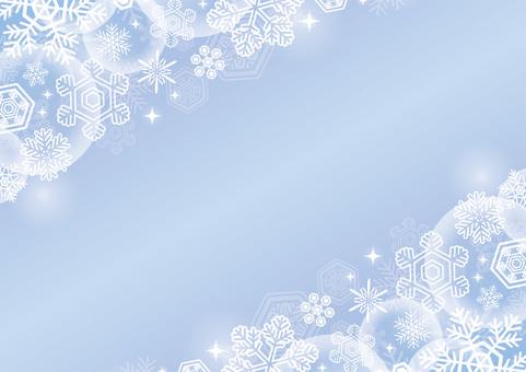 Christmas snow background blue