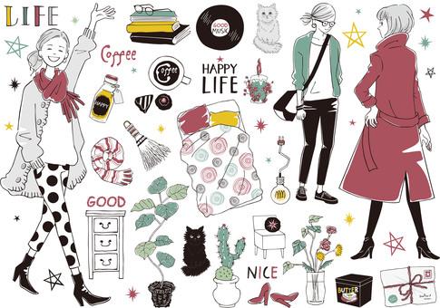 Woman fashionable life