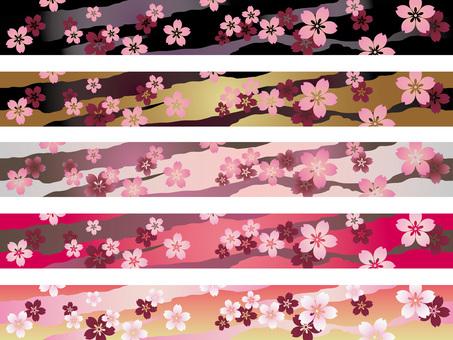 Japanese style pattern 4 cherry pattern