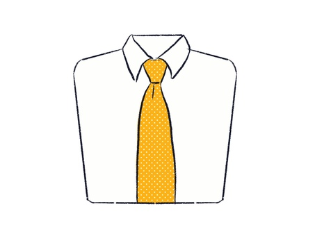 黄色いドット柄のネクタイ