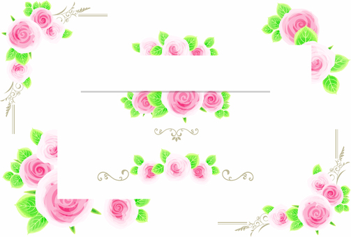 Rose decoration frame 03