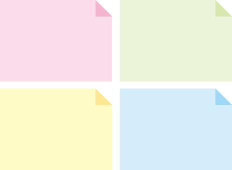 Sticky note, notepad, memo frame, memo frame