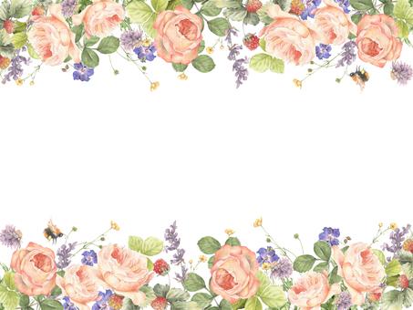花框架190  - 六月花朵花框架