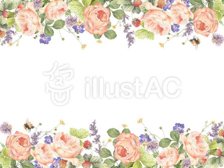 花枠1906月の花たちの花枠フレームイラスト No 812166無料