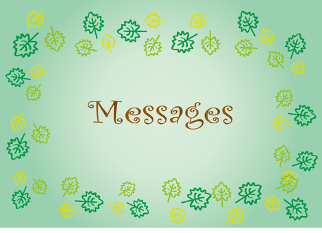 Leaf message card