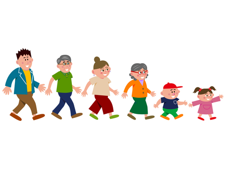 Large family (walking)