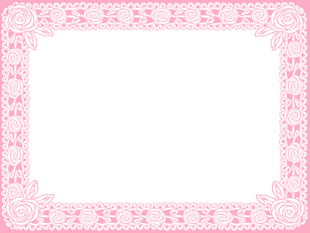 Rose frame of roses (pink)
