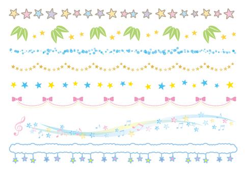 Tanabata material 017 line set
