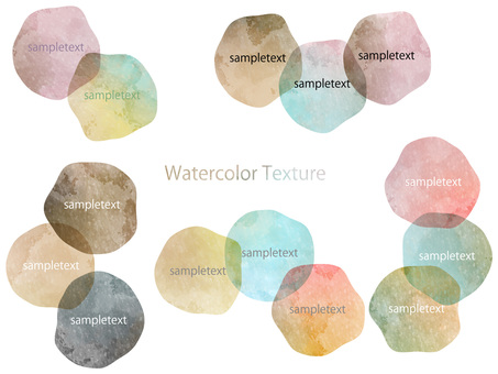 Watercolor background set ver 33